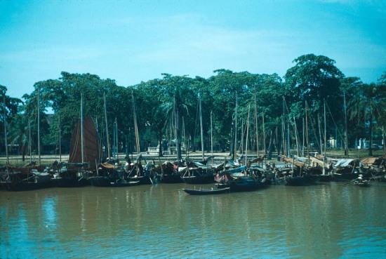 Một bến tàu ở Hải Phòng.