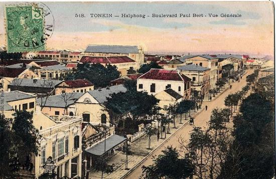 Phố Paul Bert, nay là phố Điện Biên Phủ.