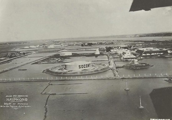Kho xăng dầu ở Hải Phòng.