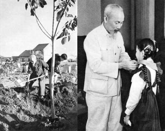 """Lời Hồ Chủ tịch: """"Vì lợi ích mười năm phải trồng cây. Vì lợi ích trăm năm phải trồng người""""."""