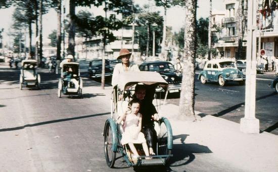 Xích lô Sài Gòn xưa.