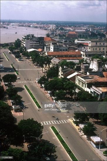 Đường Nguyễn Huệ nhìn từ trên cao.