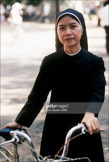 Chân dung một nữ tu Công giáo.