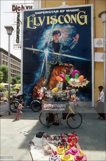 Pa-nô quảng cáo cho chương trình biểu diễn của ảo thuật gia Elvis Công.