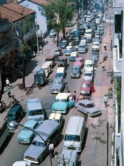 Cảnh tắc đường ở Sài Gòn.