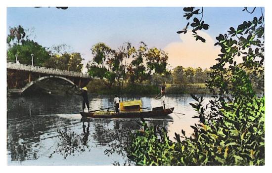 Khung cảnh trên rạch Thị Nghè cạnh Thảo Cầm Viên.