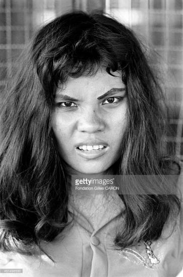 Chân dung một cô gái trẻ làm nghề bán dâm thời chiến tranh Việt Nam, Sài Gòn tháng 9/1967. Ảnh: Gilles Caron.